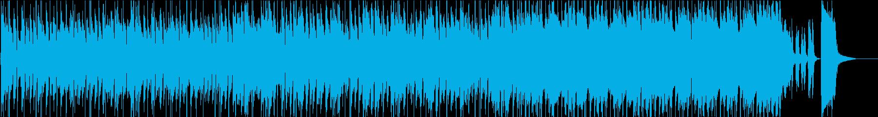 ジャジーでオシャレ系、ノリのいいBGMの再生済みの波形