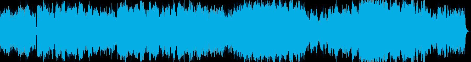 開放的できれいなイージーリスニング曲の再生済みの波形