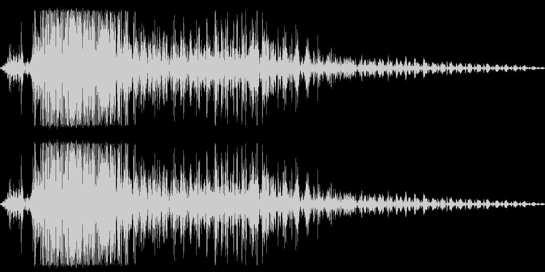 ガオー(猛獣、ライオンなどのうなり声)の未再生の波形