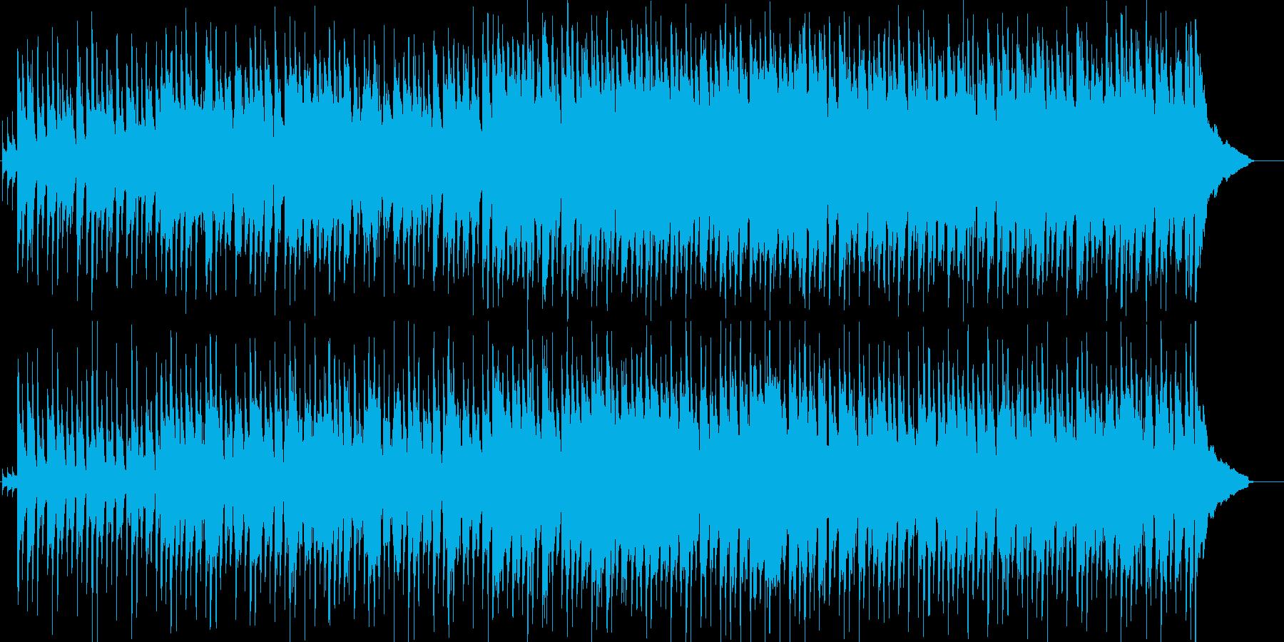 軽快でほのぼのとしたカントリー・ロックの再生済みの波形