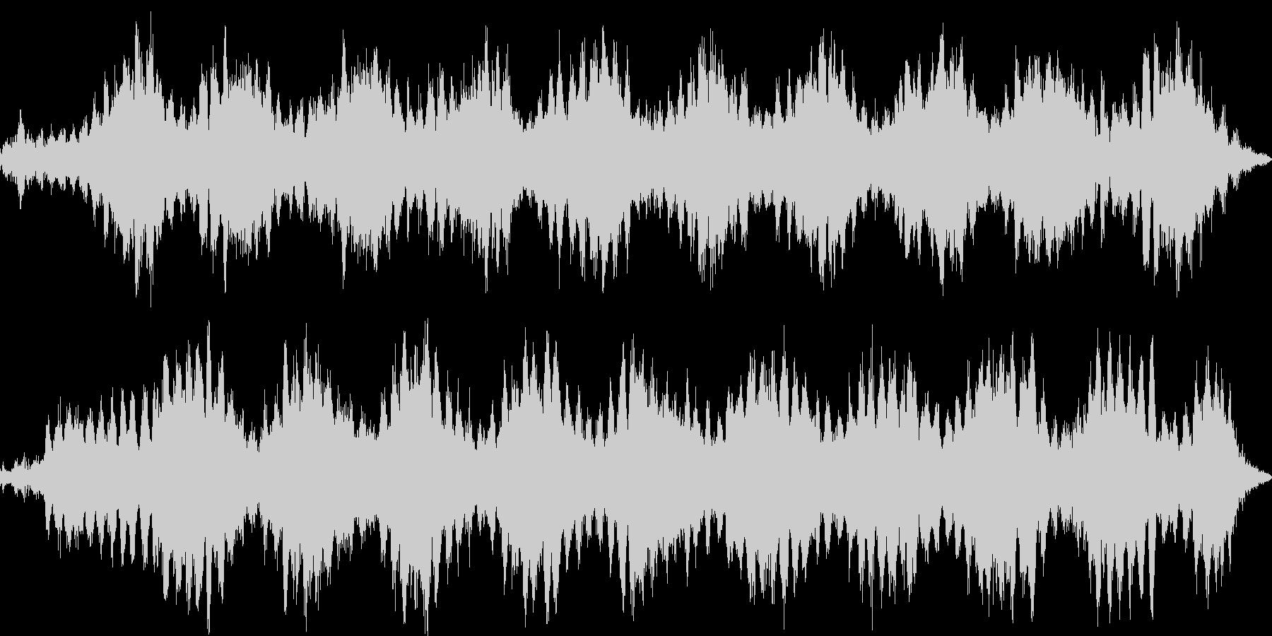 水蒸気・熱気・見えない気配のイメージ音の未再生の波形