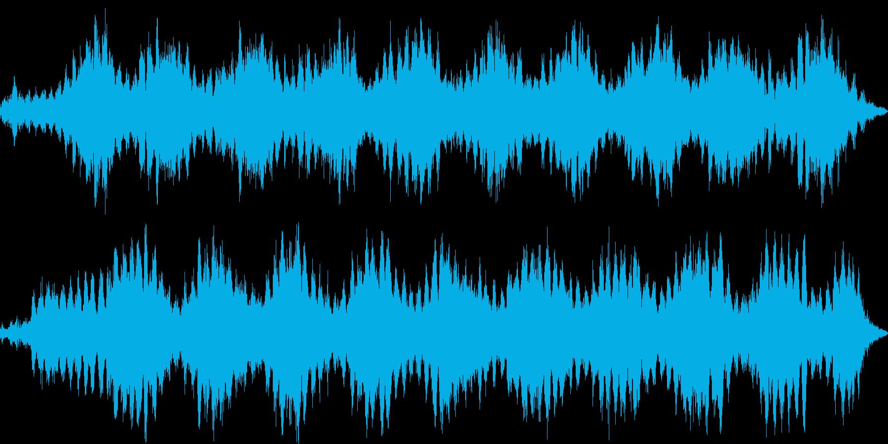 水蒸気・熱気・見えない気配のイメージ音の再生済みの波形