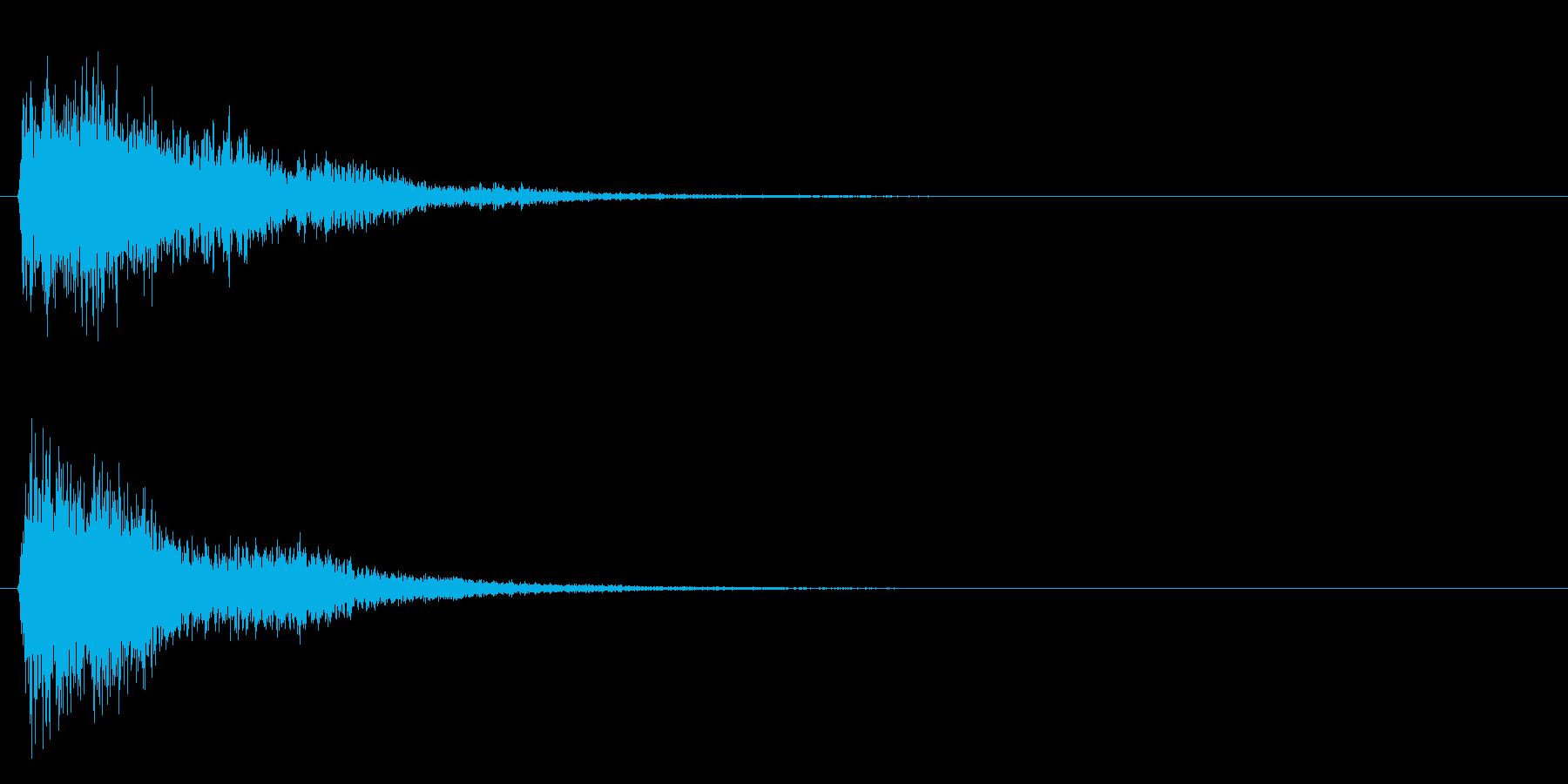 シュワ・・・の再生済みの波形