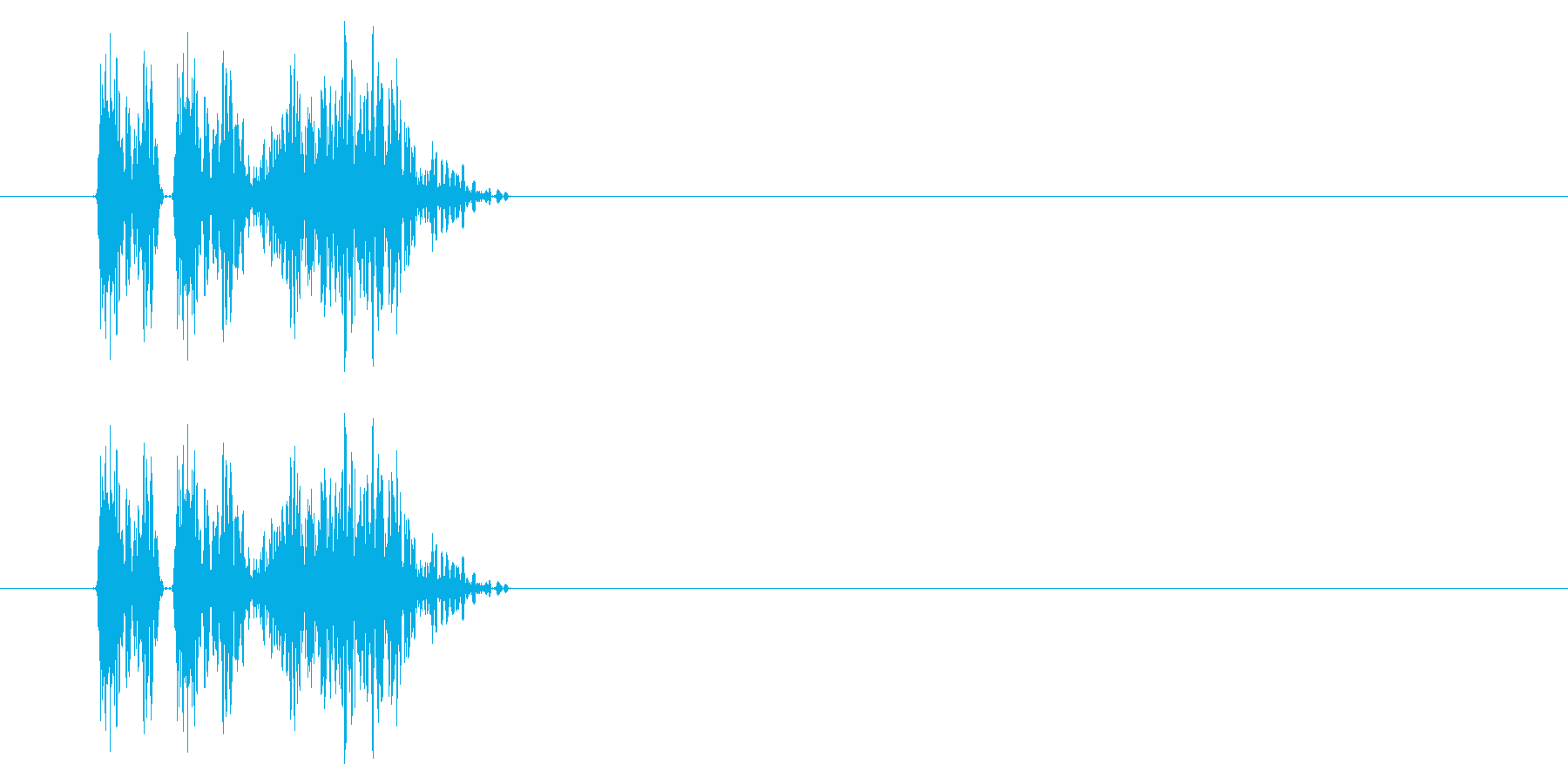 GEN-格闘01-06(ヒット)の再生済みの波形