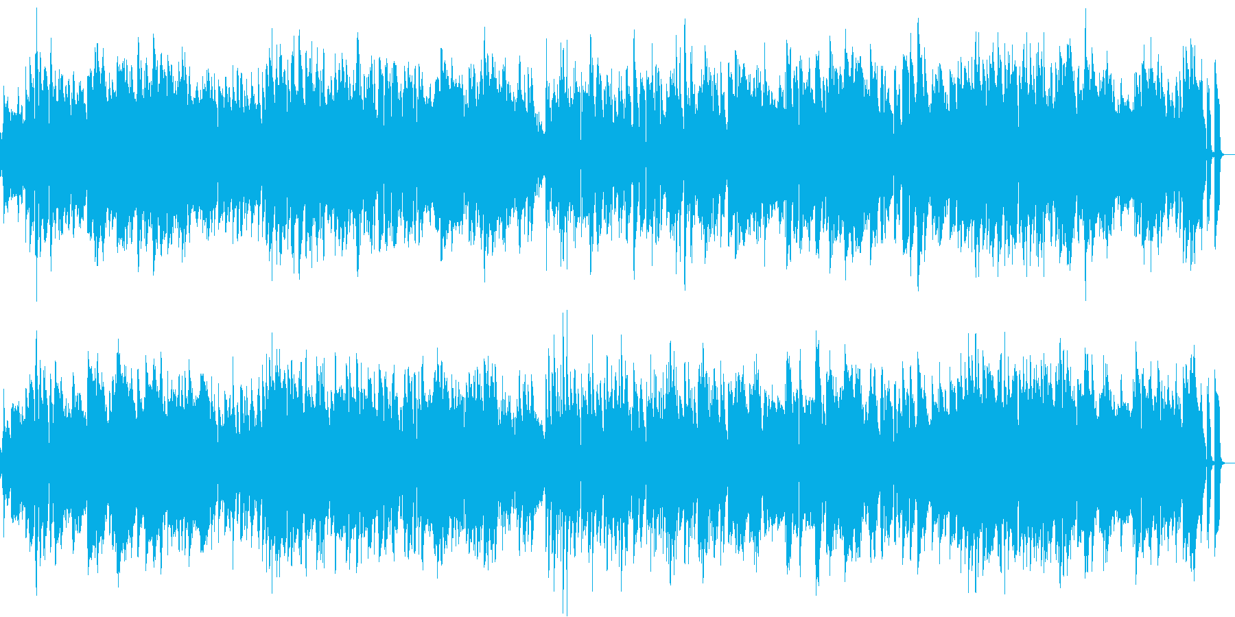 サスペンスのエンディング風ジャズの再生済みの波形
