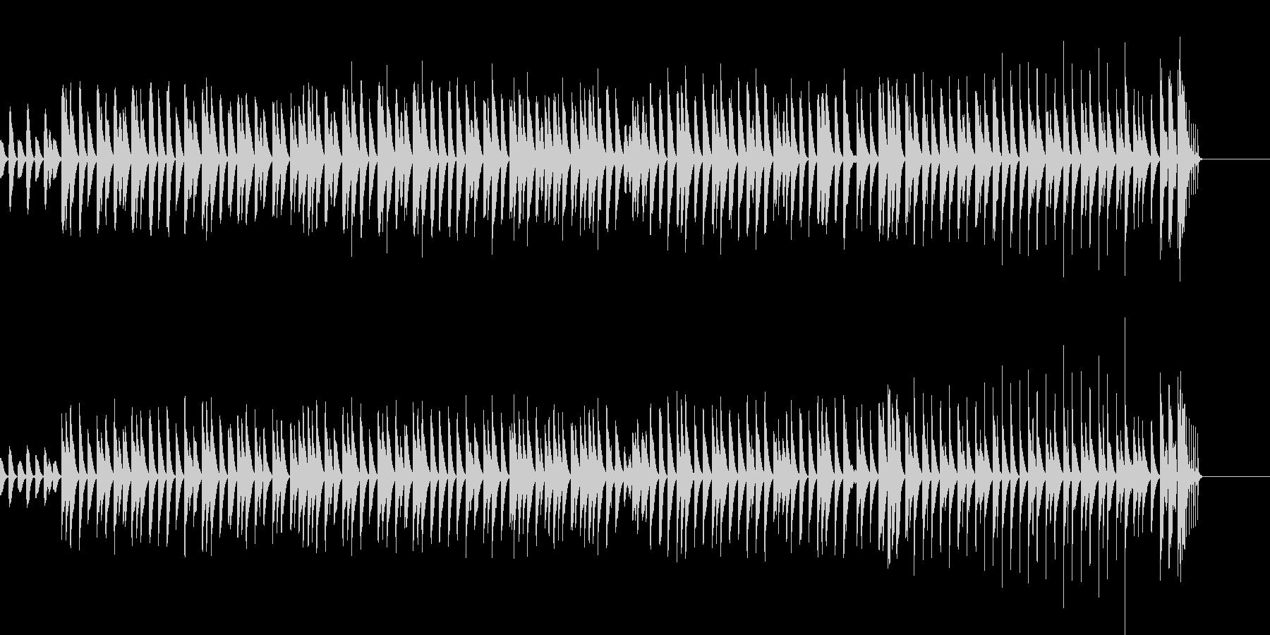 木琴が奏でるほのぼのとしたBGMの未再生の波形