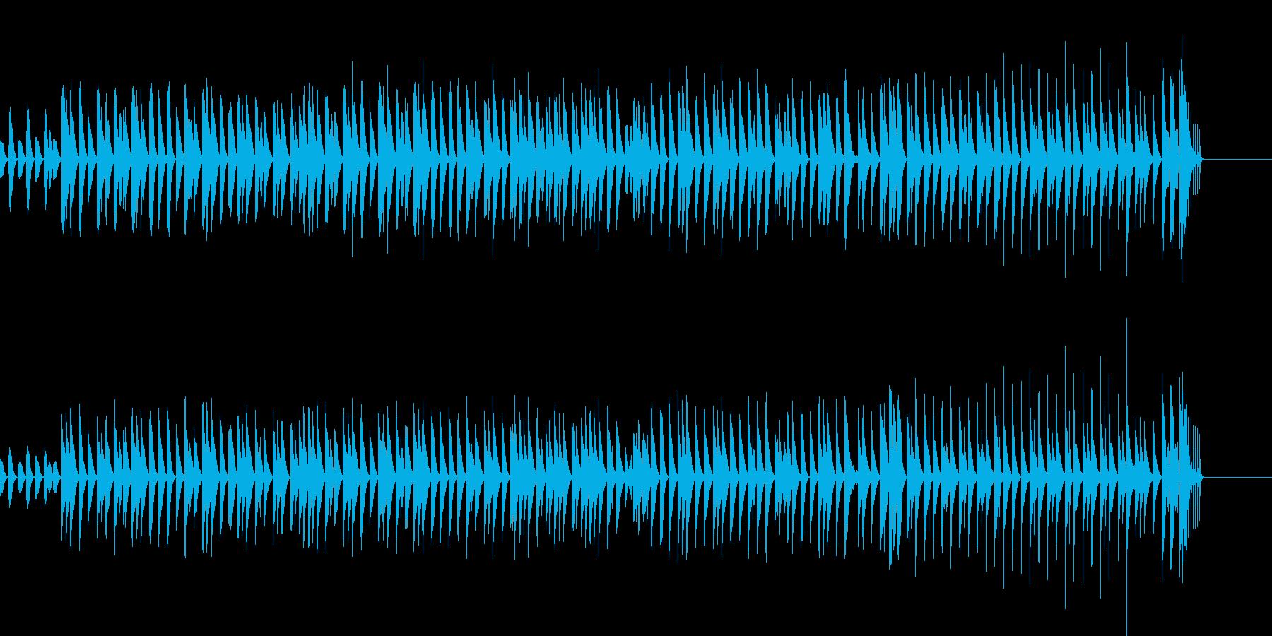 木琴が奏でるほのぼのとしたBGMの再生済みの波形