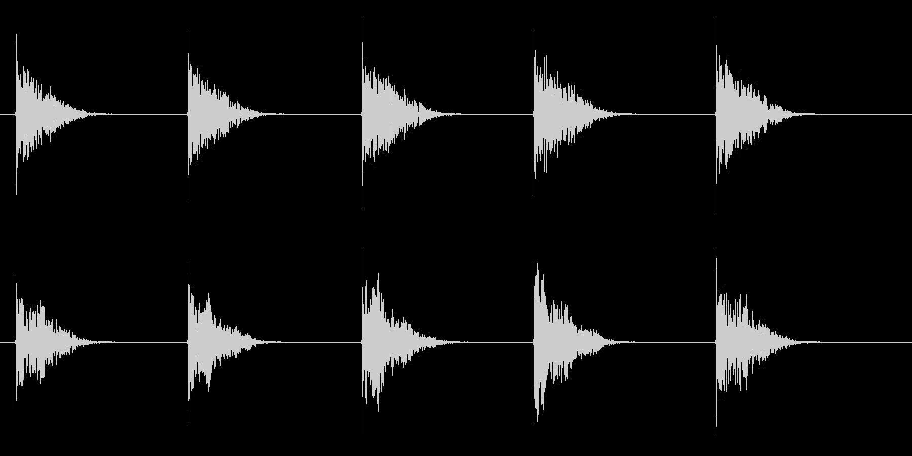 クーンという透明感ある音が繰り返されるの未再生の波形