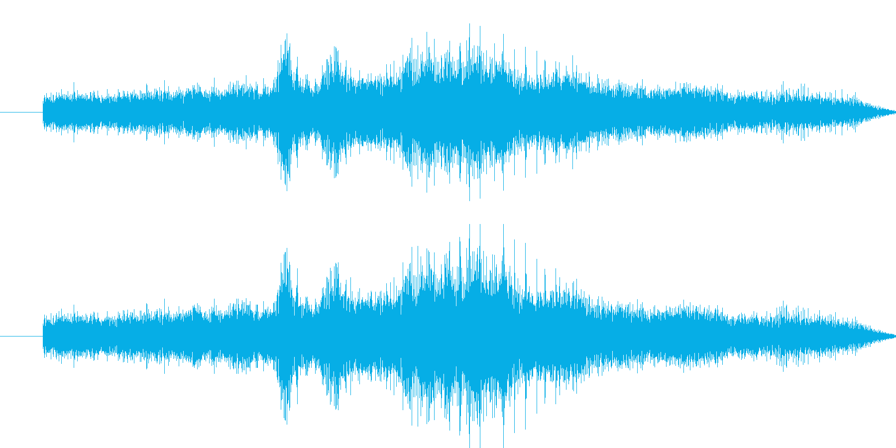 オート三輪の走行音の再生済みの波形