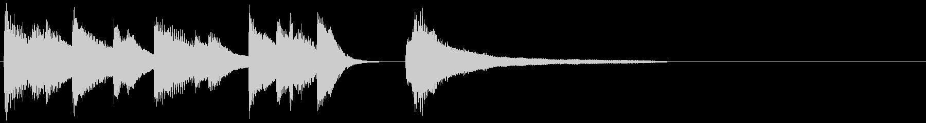 ピアノ ジングル11 ハッピーの未再生の波形