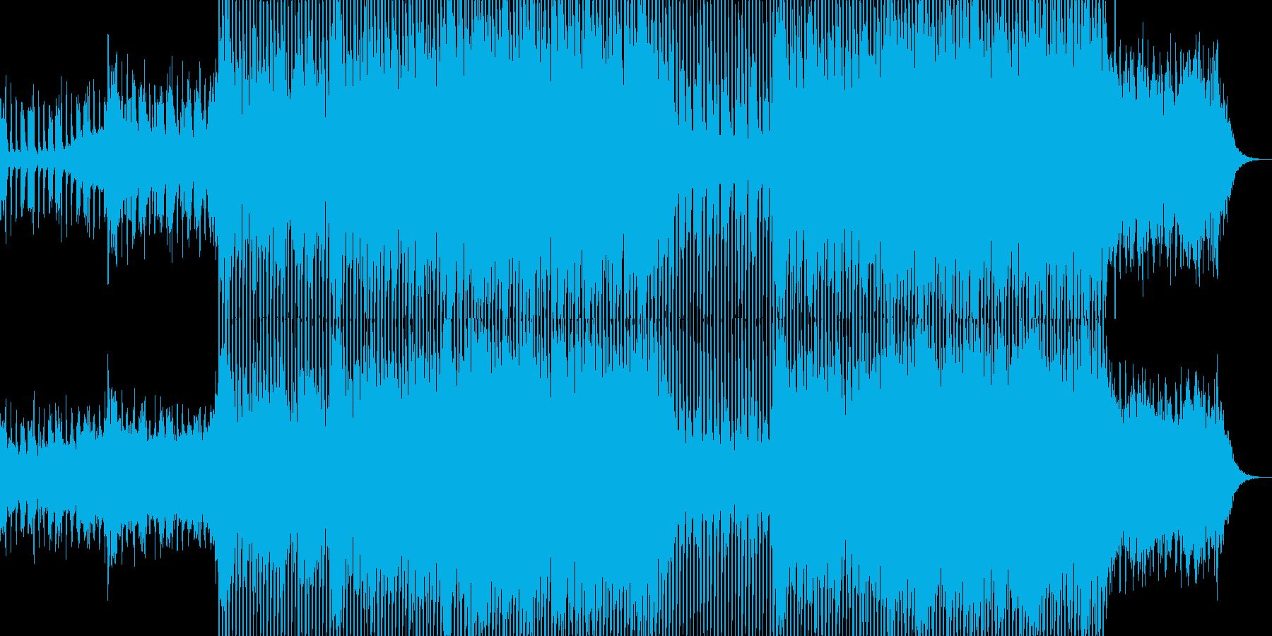 シンセブラスが軽快なクラブ系EDM-04の再生済みの波形