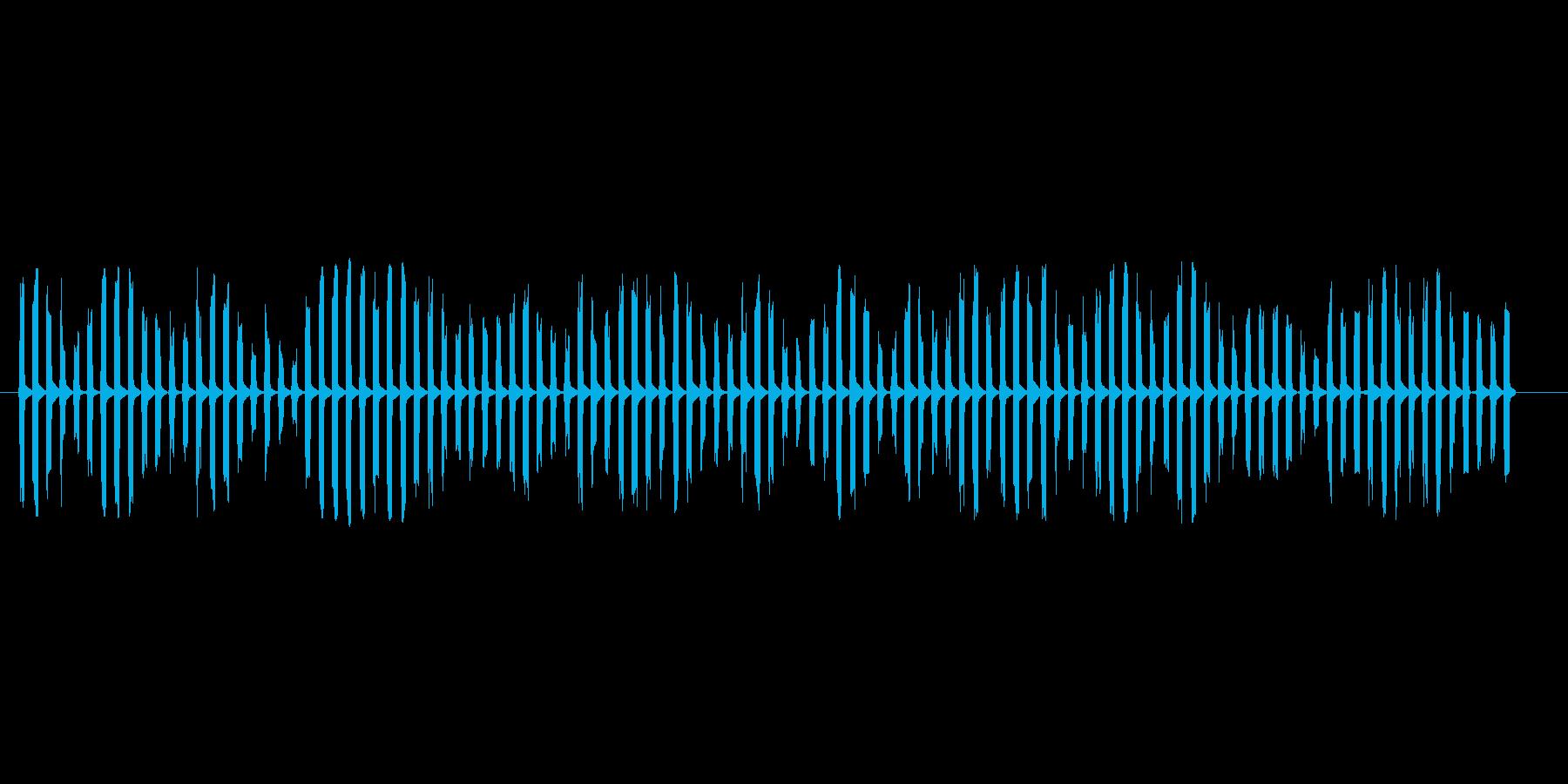宇宙人が喋っているような電子音ですピロの再生済みの波形