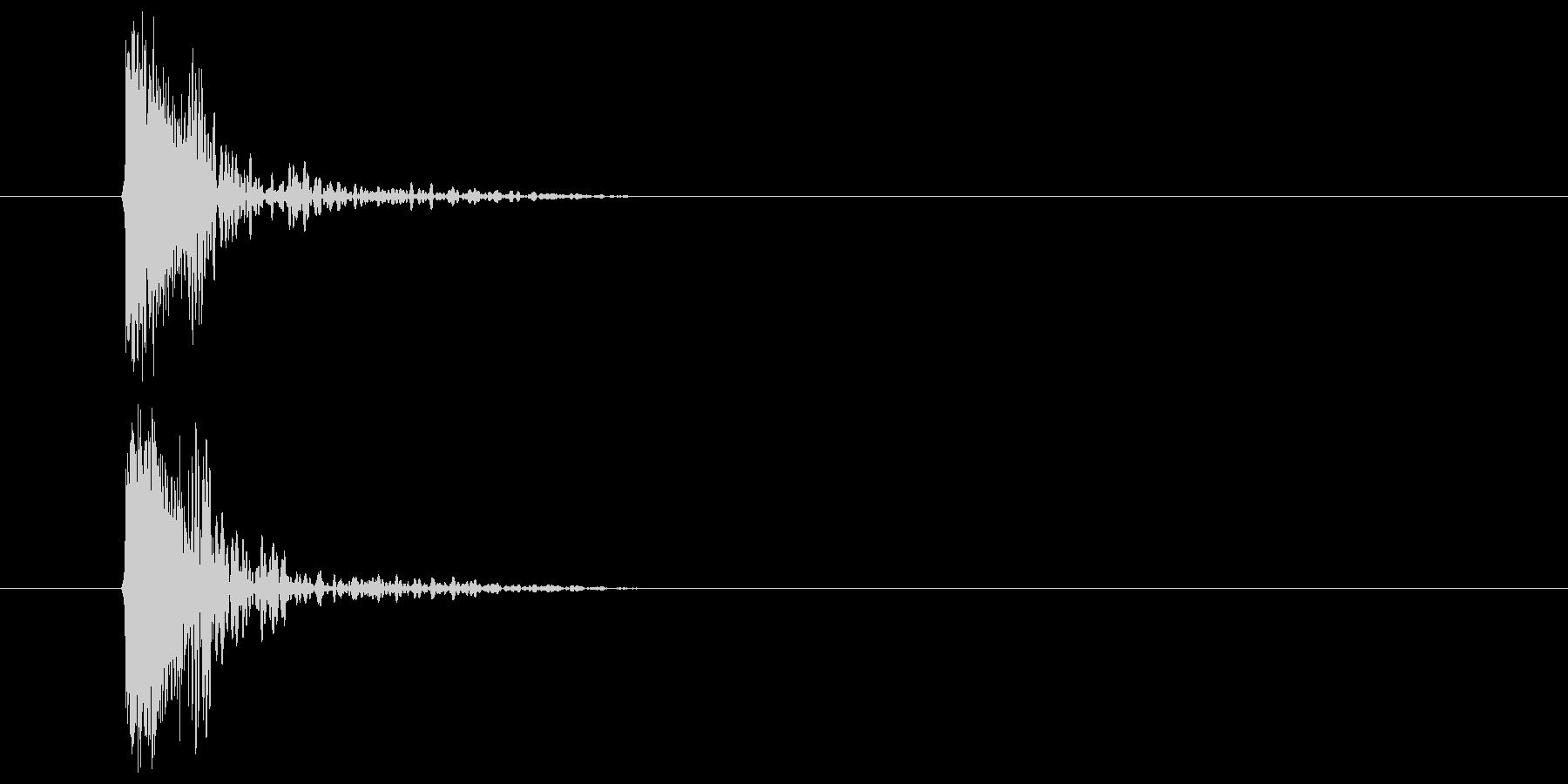 コミカル発射音の未再生の波形