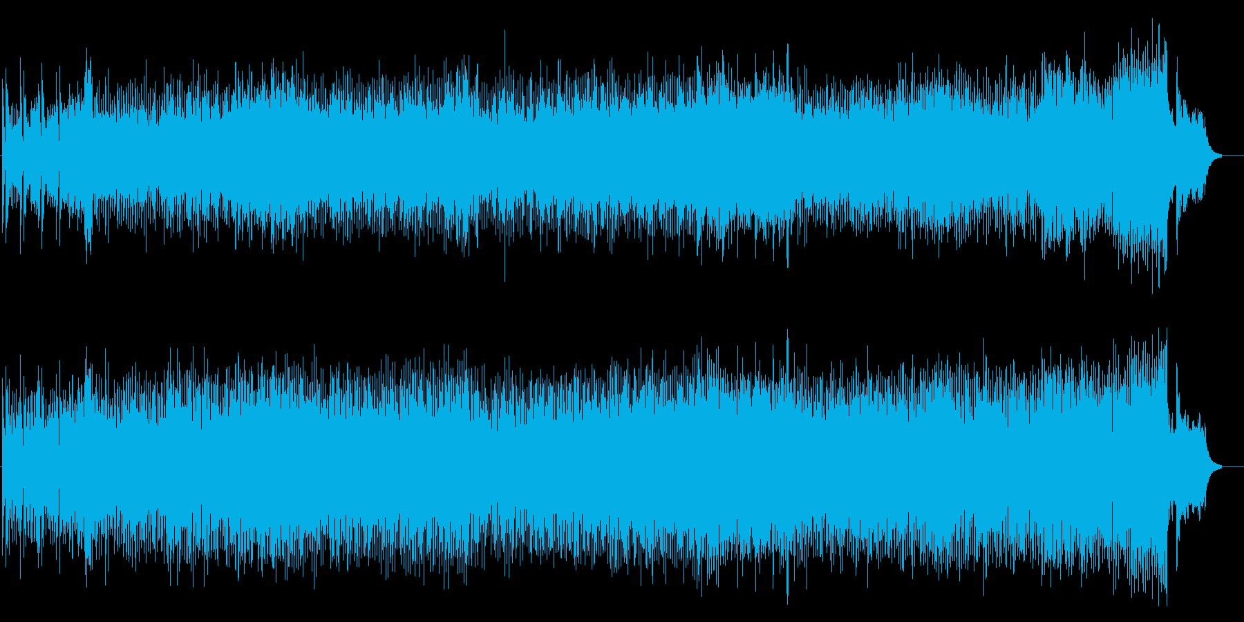 さわやかを感じるエンディングテーマの再生済みの波形