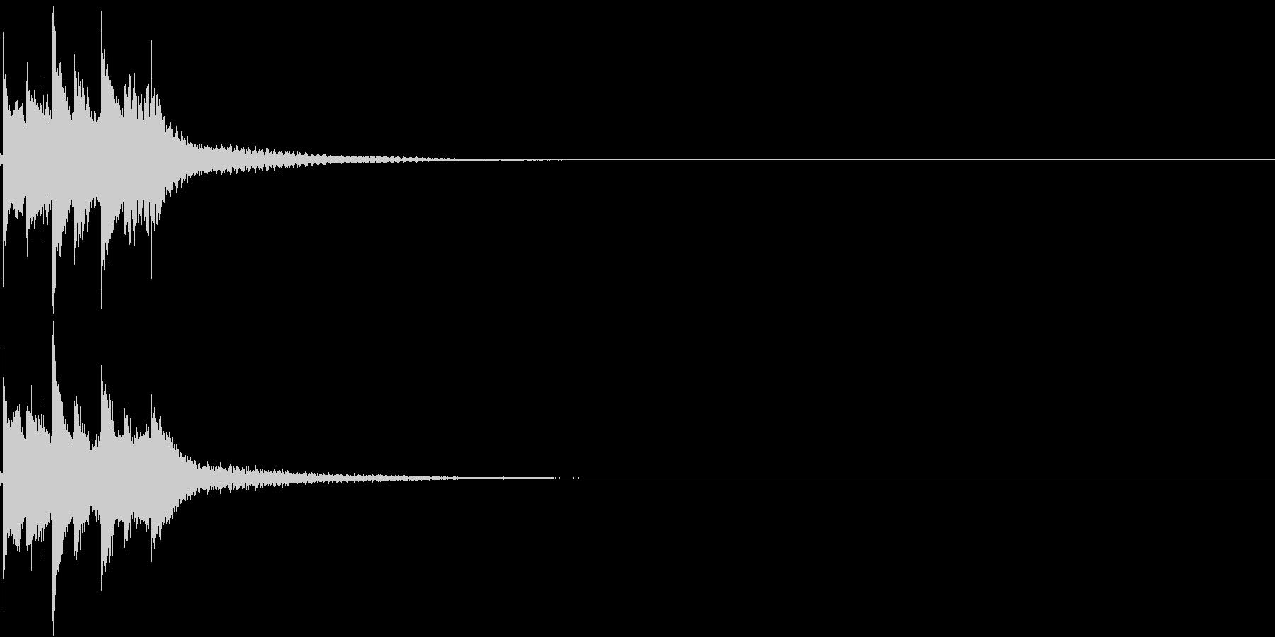 お正月 琴 和風 日本 和楽器 2の未再生の波形