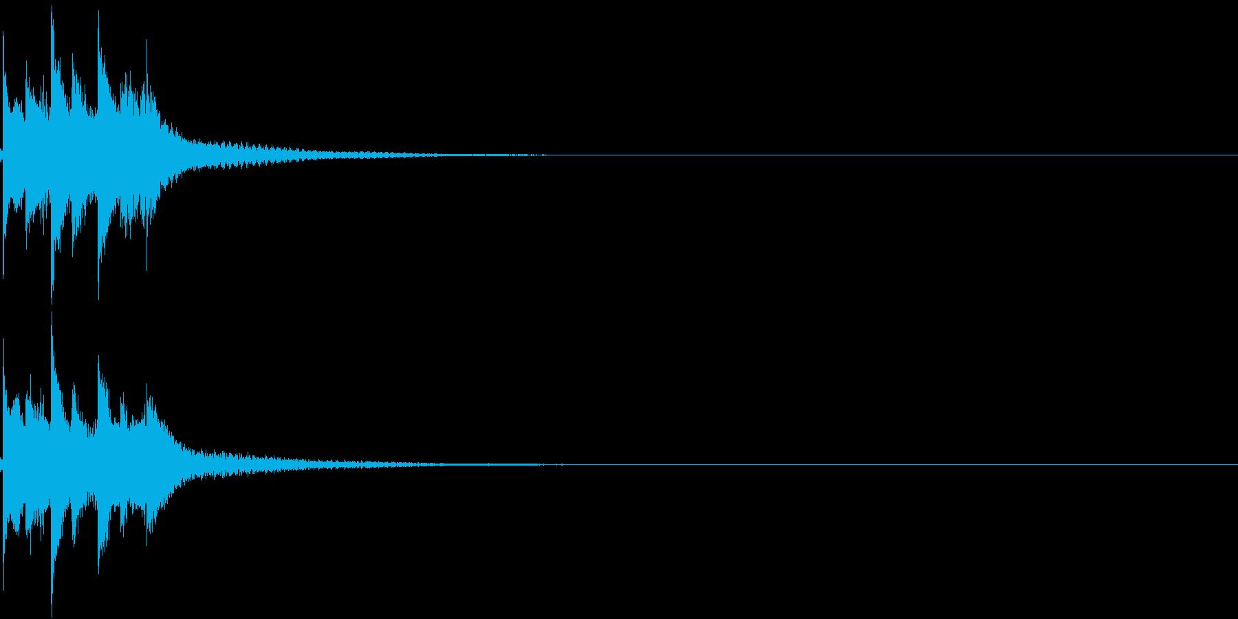 お正月 琴 和風 日本 和楽器 2の再生済みの波形