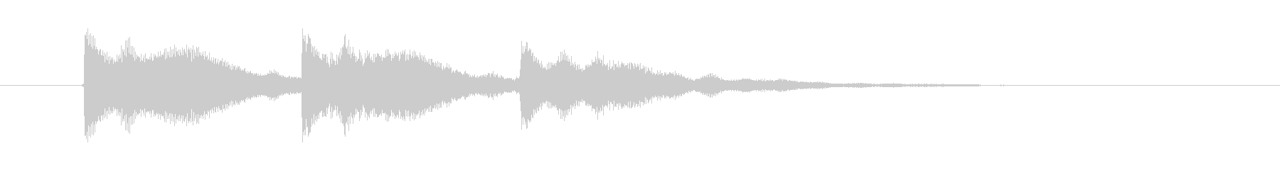 不穏なシンセ音の未再生の波形