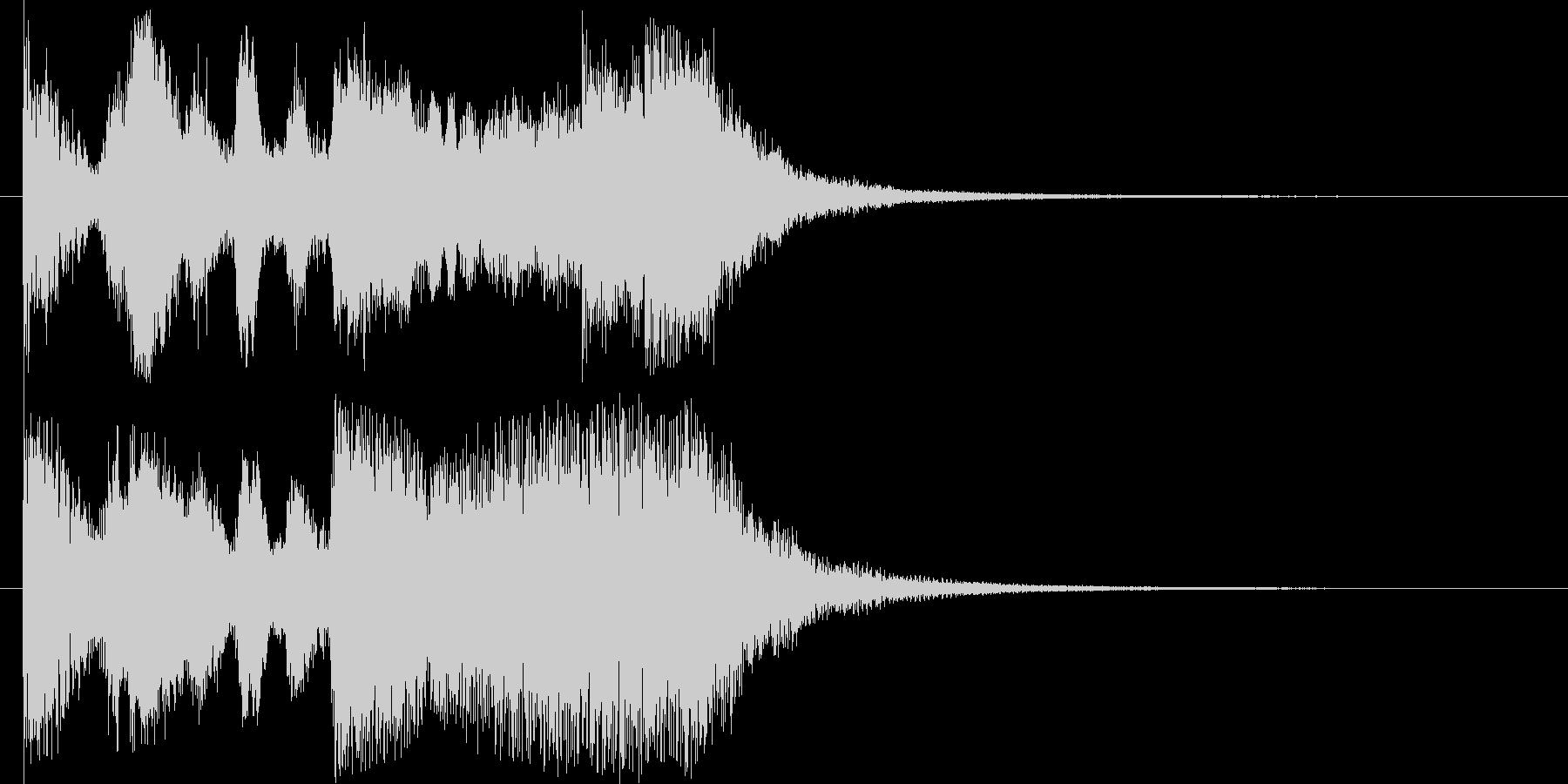 トランペットが高らかに鳴るファンファーレの未再生の波形