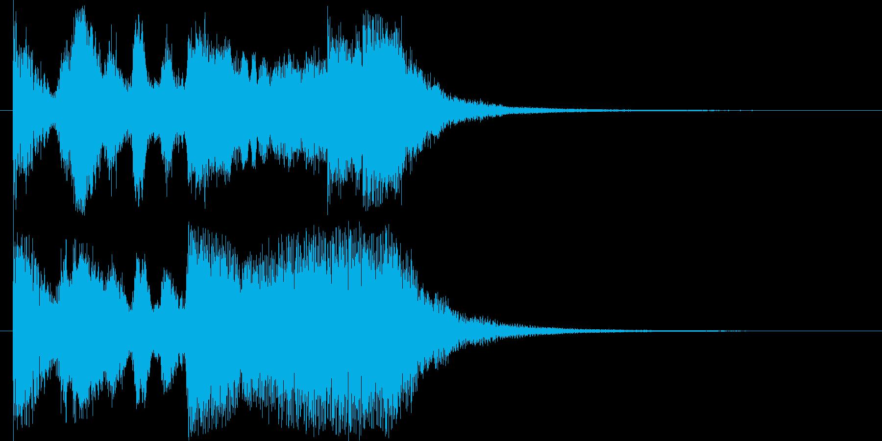 トランペットが高らかに鳴るファンファーレの再生済みの波形