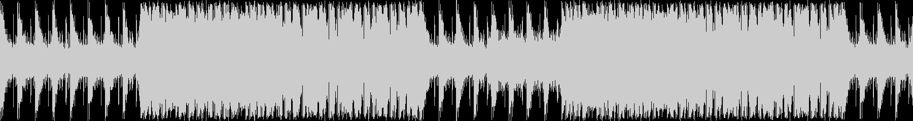 緊張感溢れるサイバーで無機質な楽曲ループの未再生の波形
