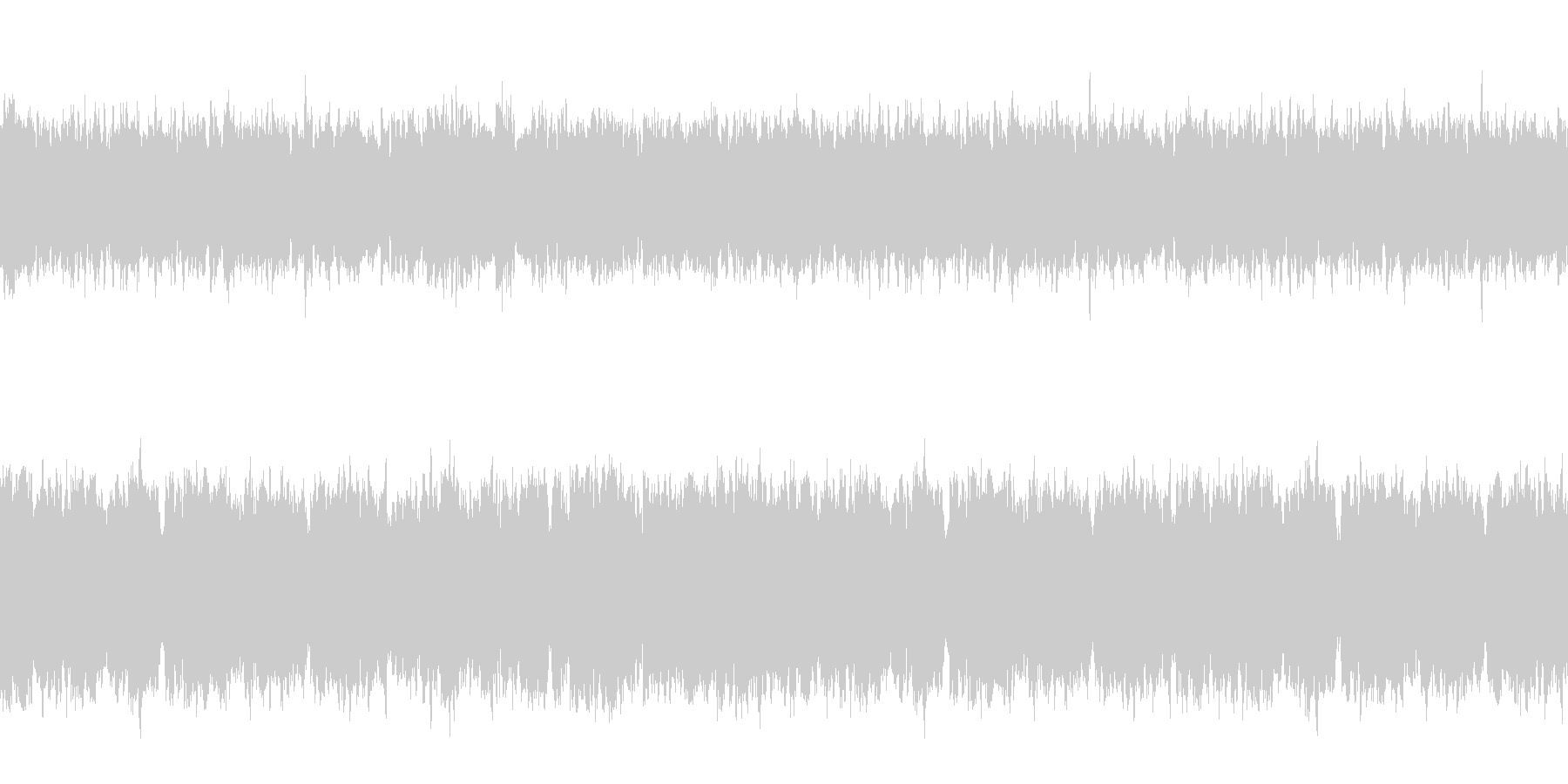 ミステリアスなチルアウトループの未再生の波形