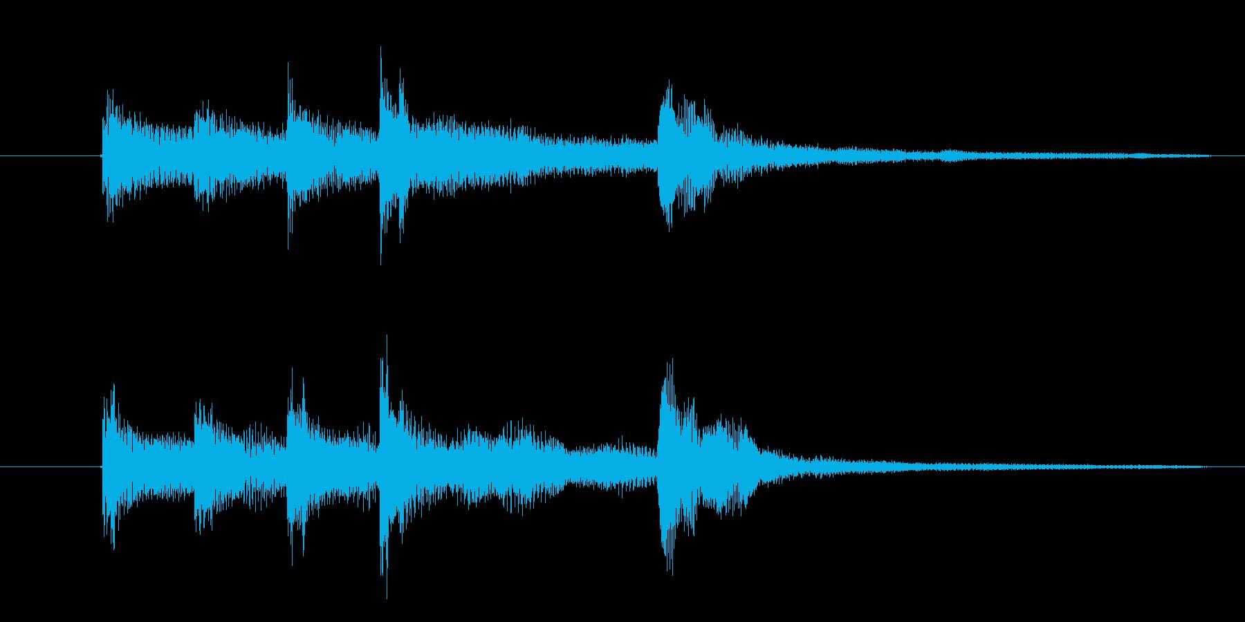『ありがとぅ』の効果音です。の再生済みの波形