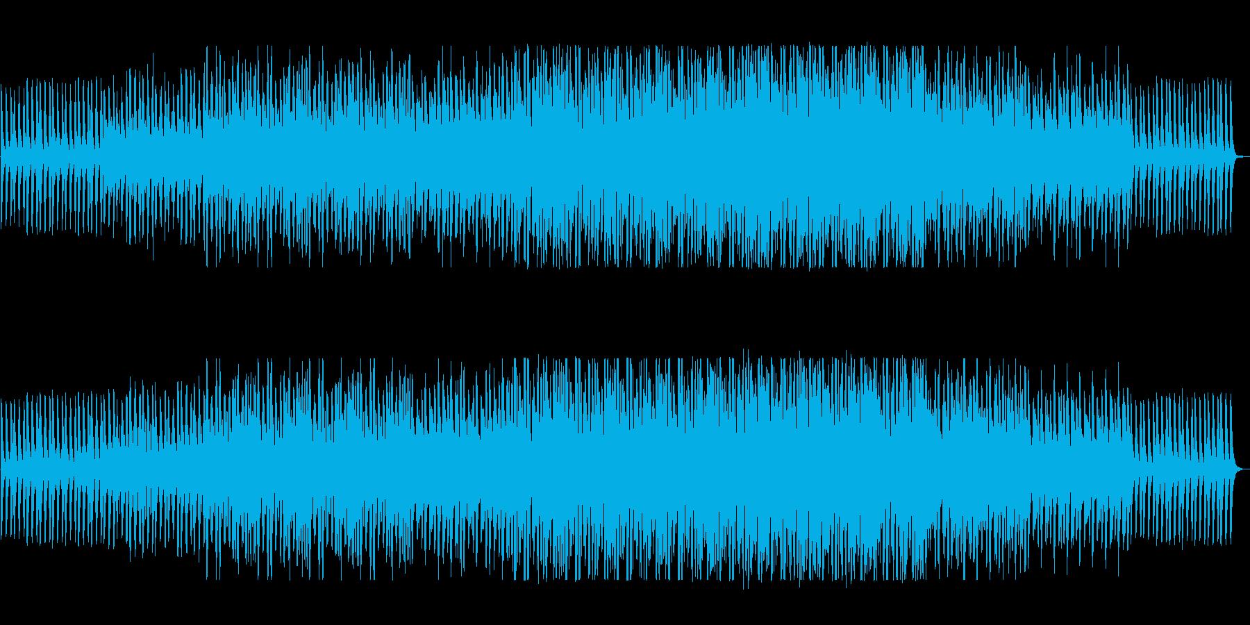 穏やかでリズミカルなテクノポップの再生済みの波形