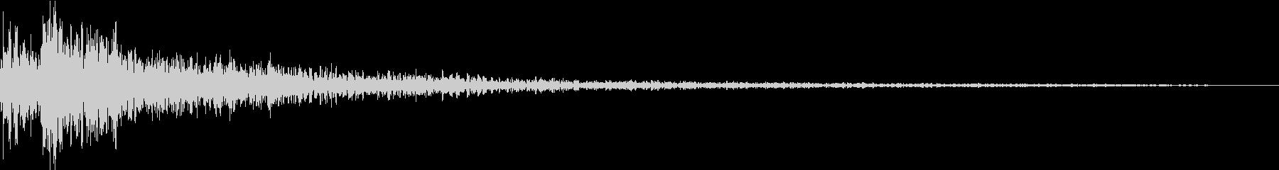 Taiko 開始の合図 和太鼓 残響深めの未再生の波形
