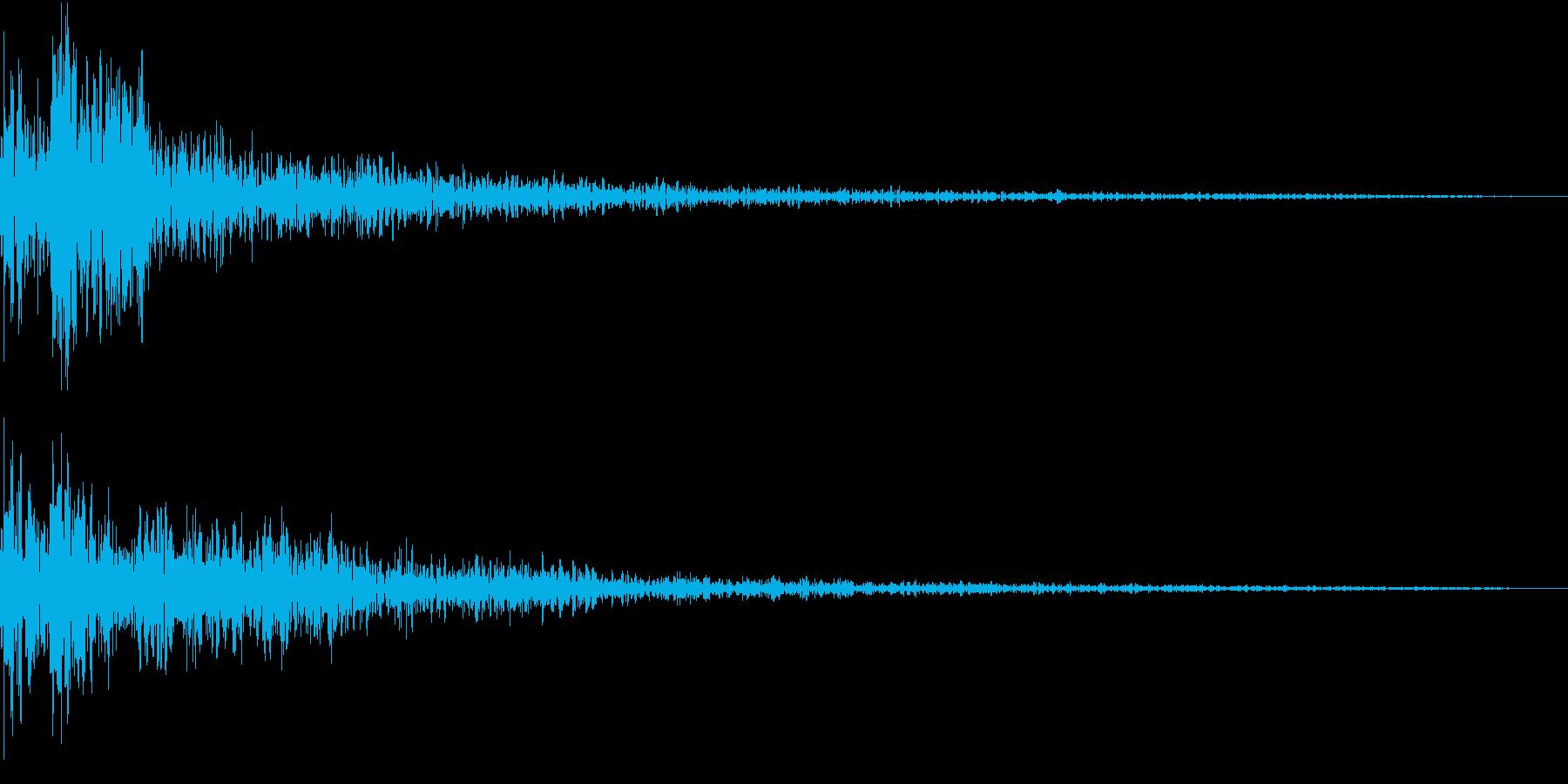 Taiko 開始の合図 和太鼓 残響深めの再生済みの波形