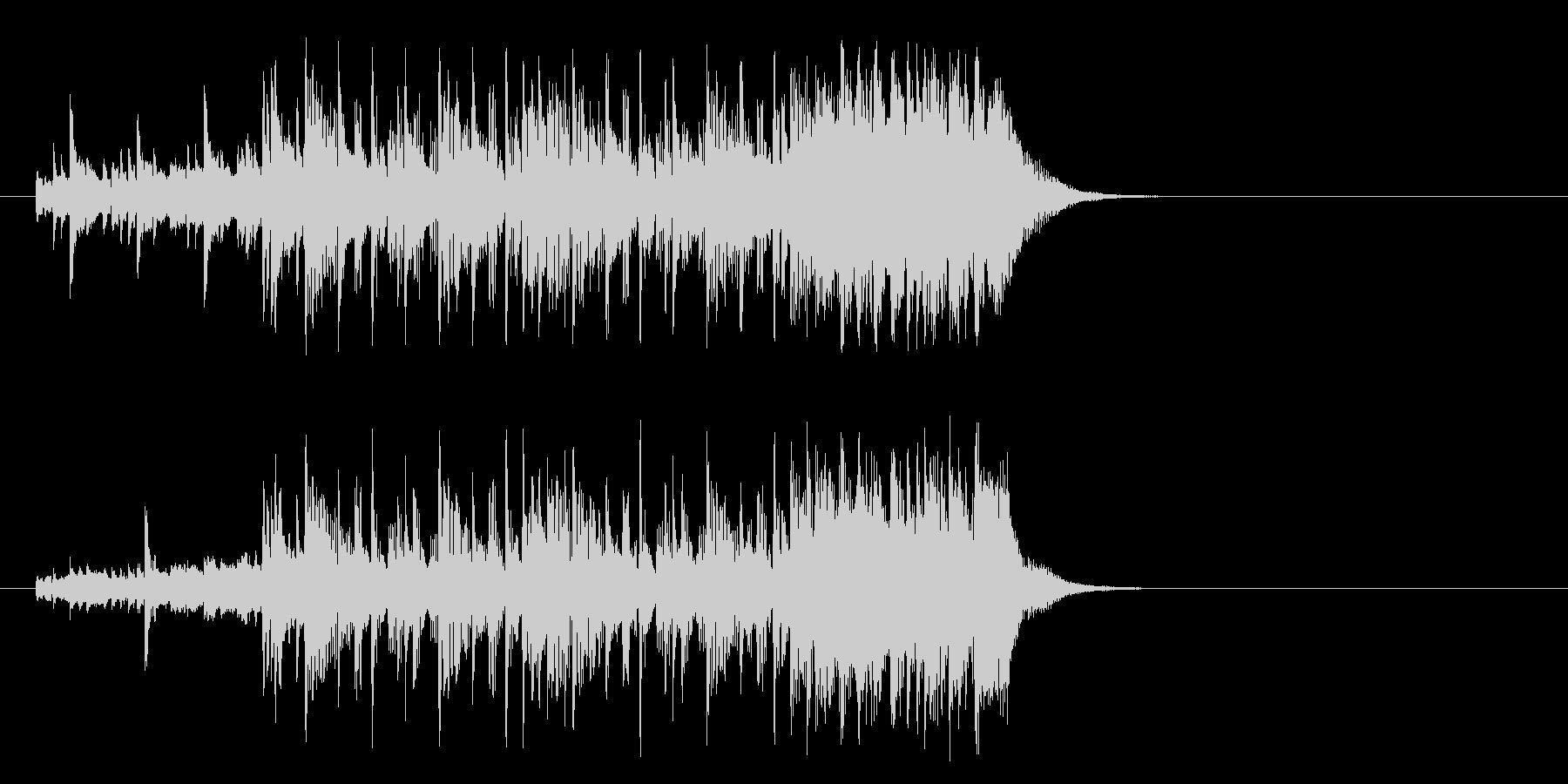 好奇心旺盛なポップ(イントロ)の未再生の波形