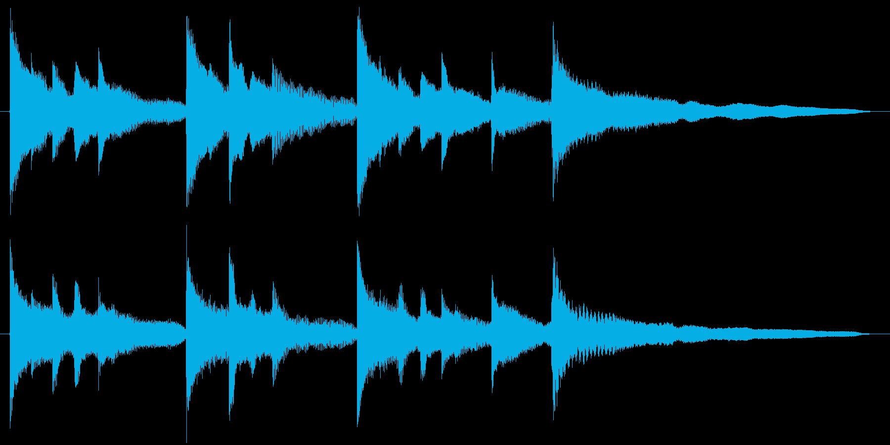 ピアノのジングルの再生済みの波形