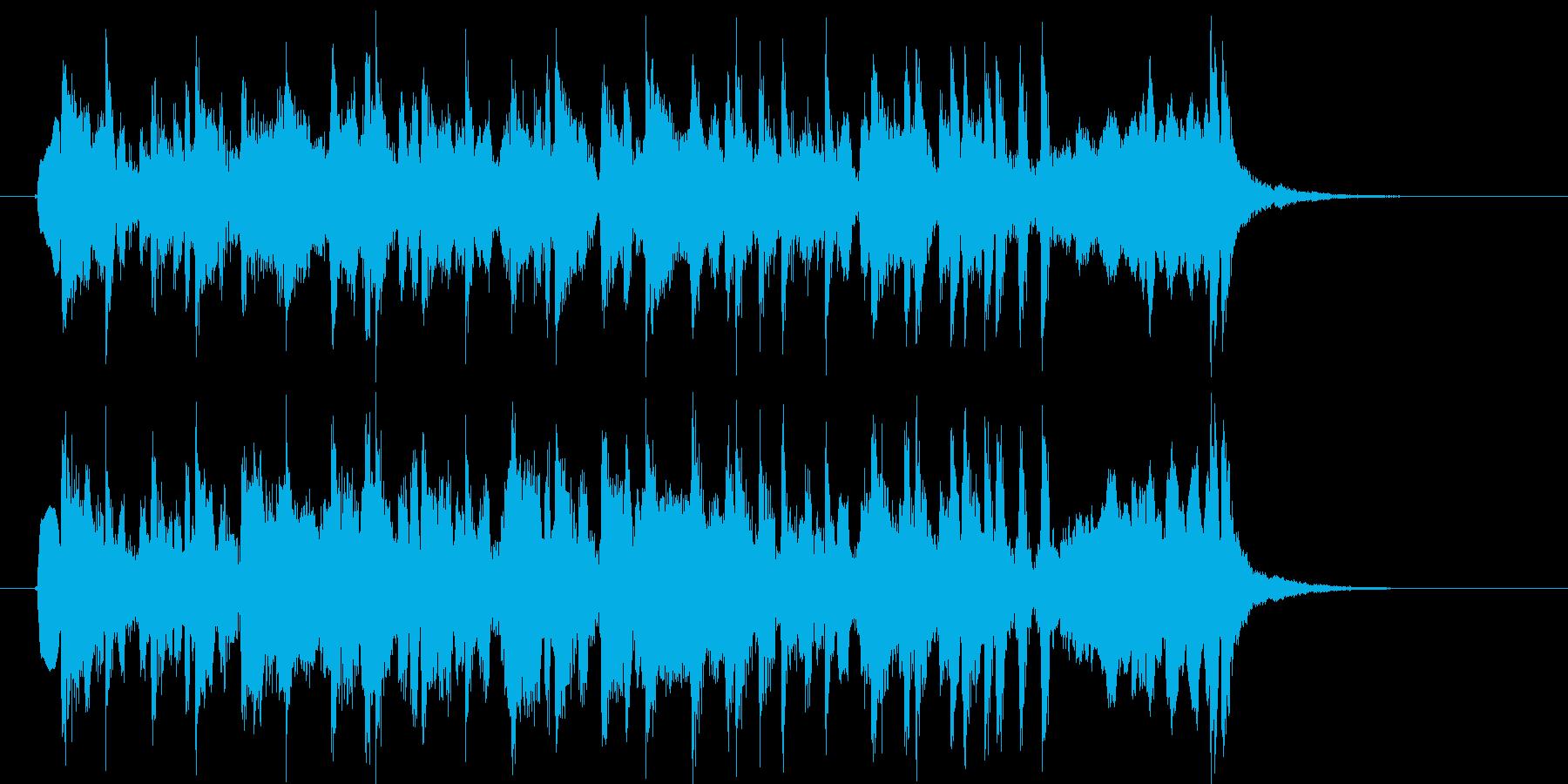 ゆったりと和やかなリラクゼーション音楽の再生済みの波形