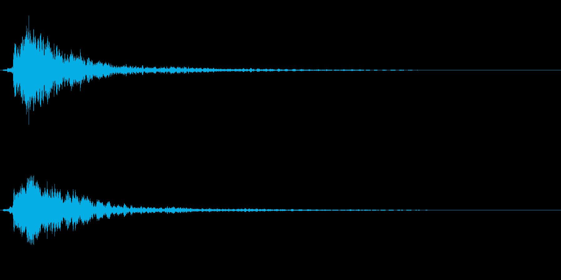 サスペンスに最適!ピアノの弦を弄ぶ音21の再生済みの波形