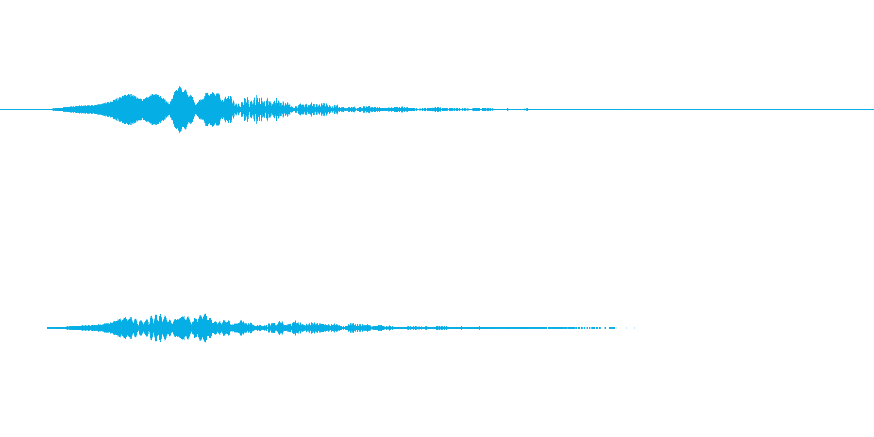 【SE 効果音】効果音その18の再生済みの波形