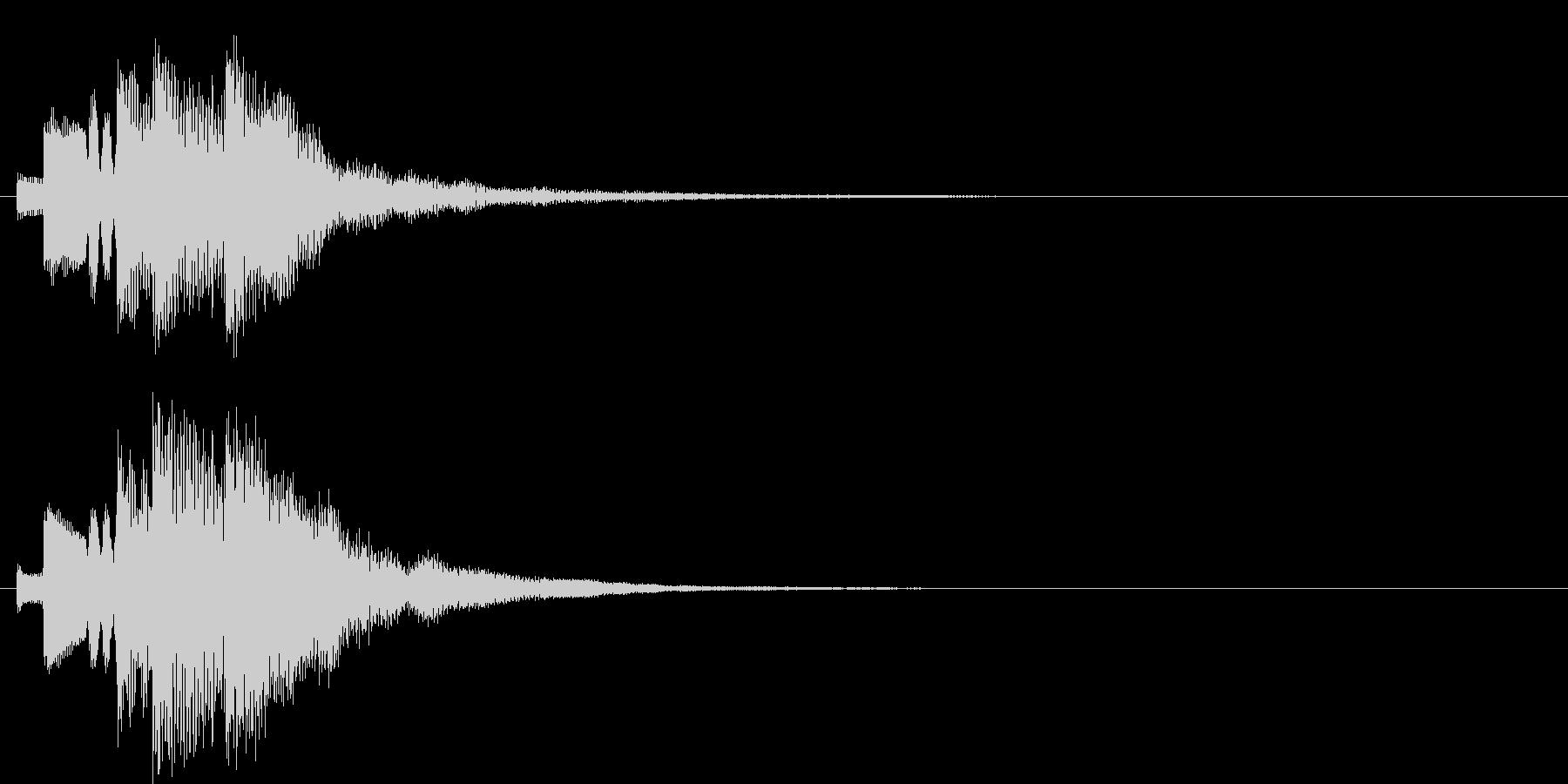 アラーム音12 ハープ(maj7)の未再生の波形