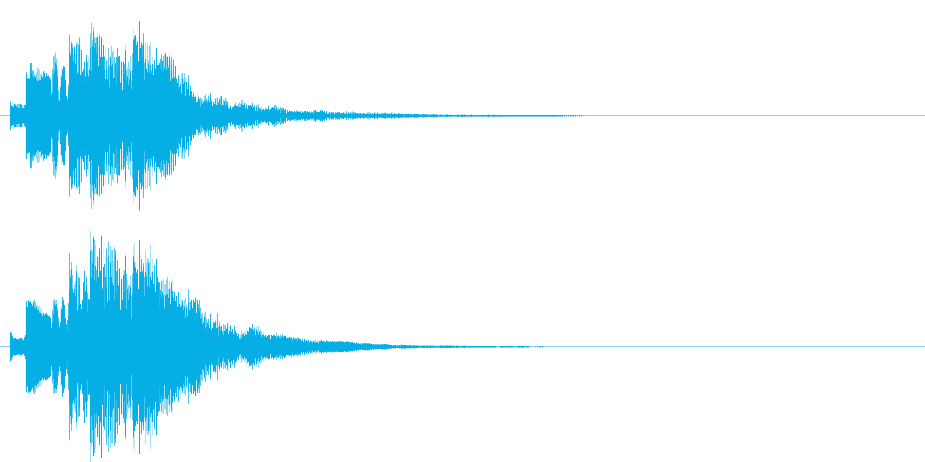 アラーム音12 ハープ(maj7)の再生済みの波形