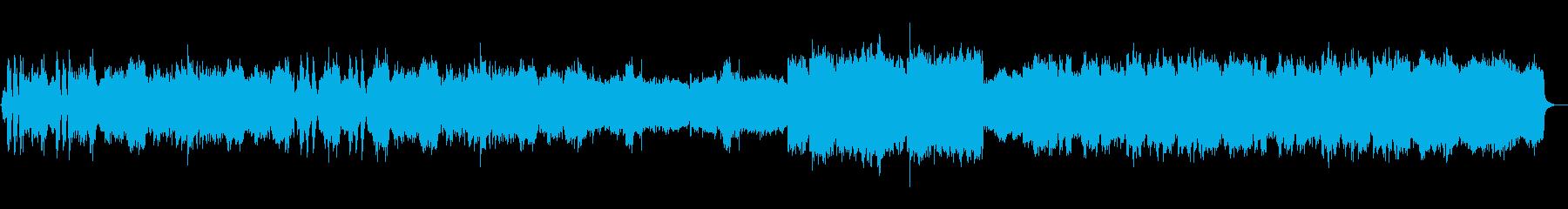 和風、正月、琴、笛、太鼓の再生済みの波形