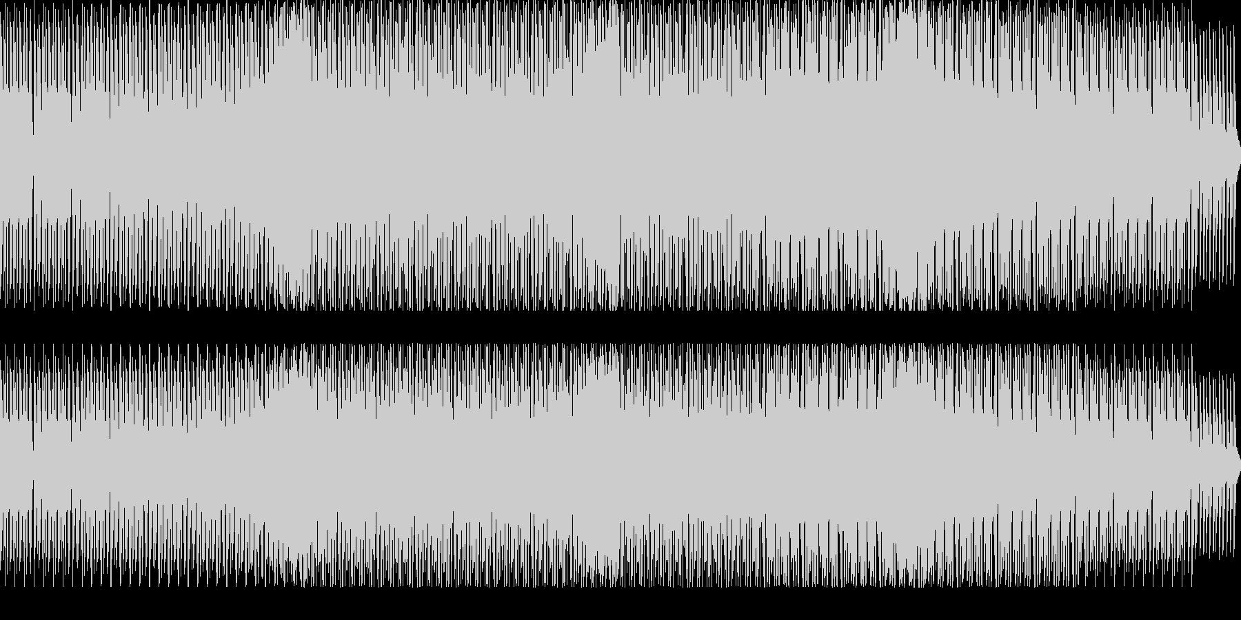 シンセドラムとシンセサイザーのループの未再生の波形