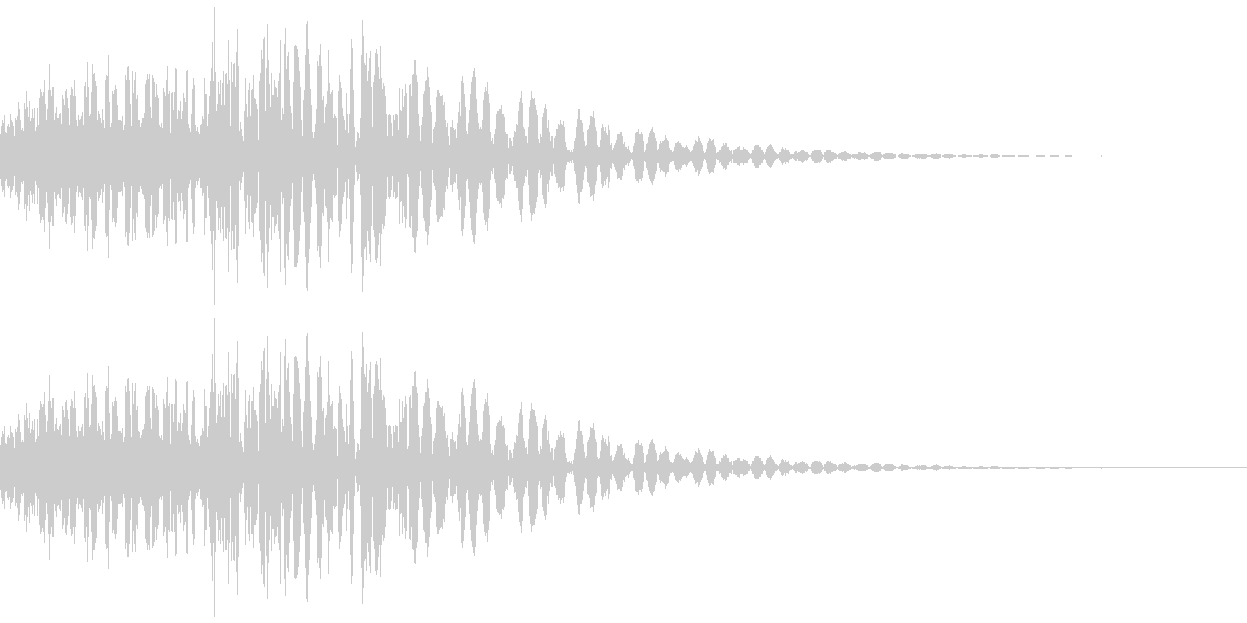 SFメカの挙動、足音などのイメージの未再生の波形