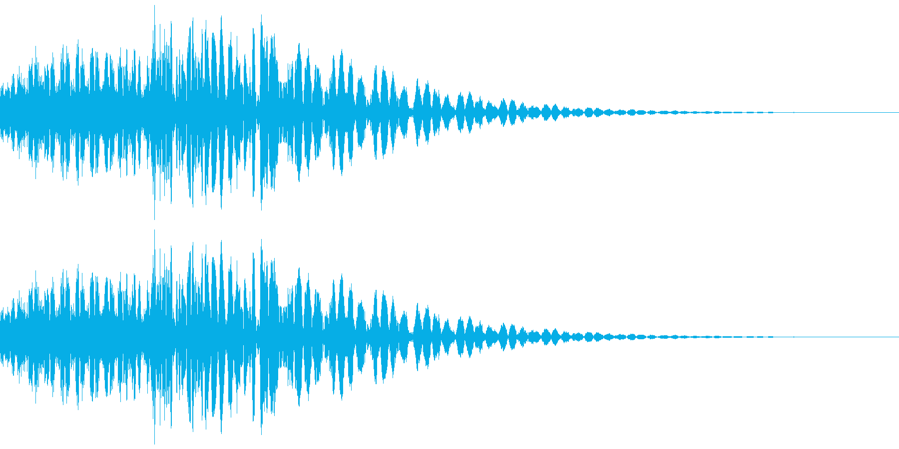 SFメカの挙動、足音などのイメージの再生済みの波形
