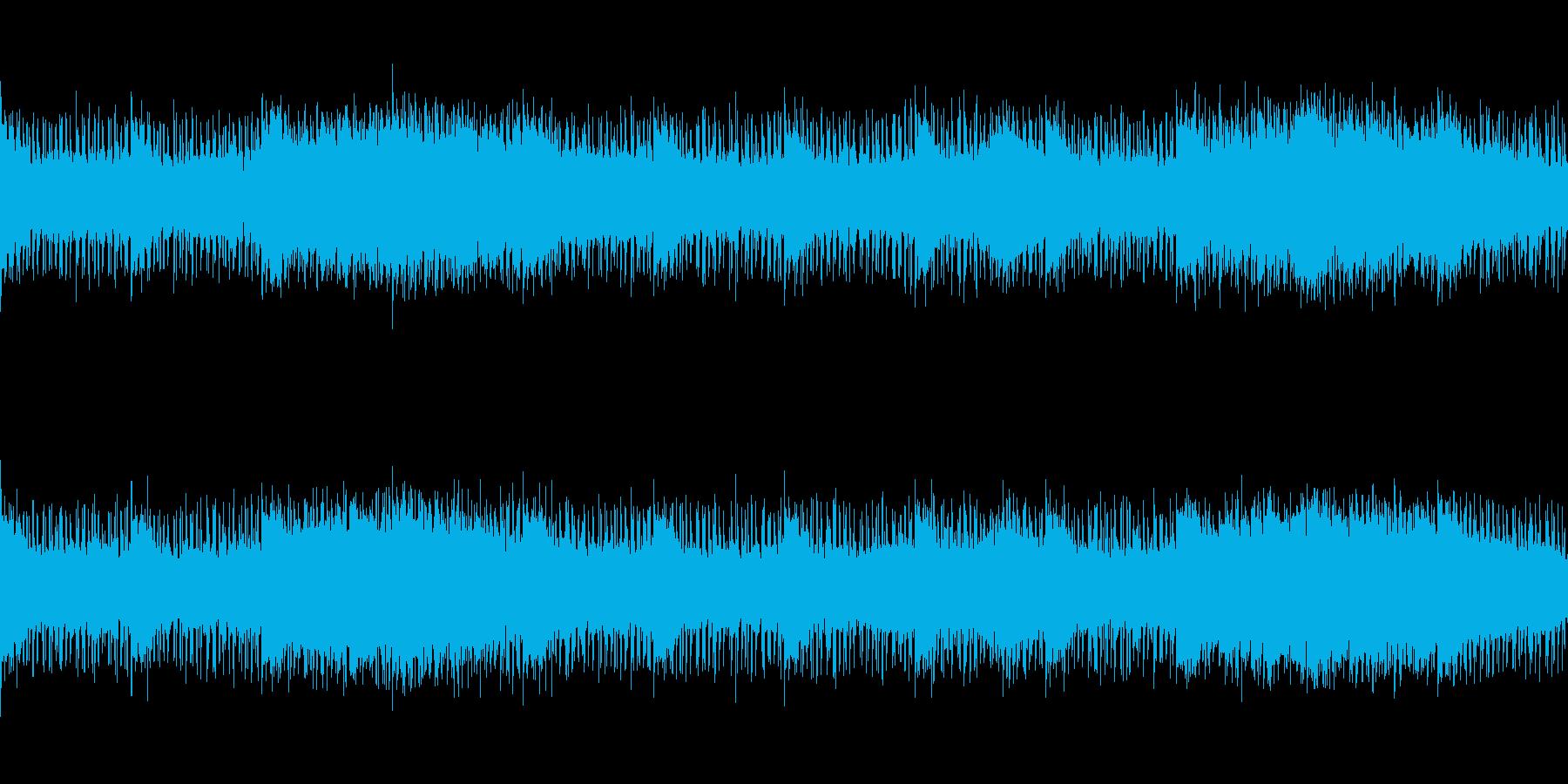 ニュースやナレーションのBGMの再生済みの波形