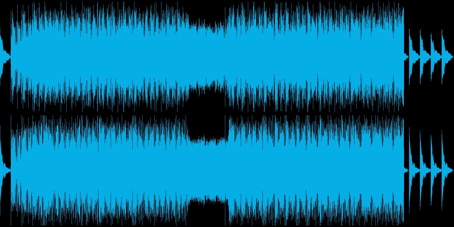 【冷たくて無機質な雰囲気エレクトロニカ】の再生済みの波形