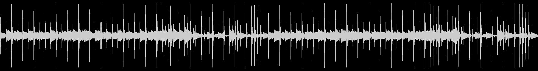 FM音源とリズムのループの未再生の波形