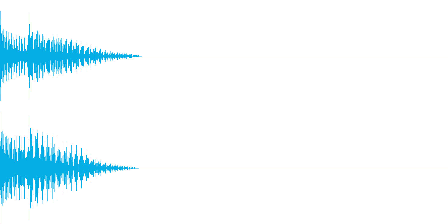 Cursor セレクト・カーソルの音1の再生済みの波形