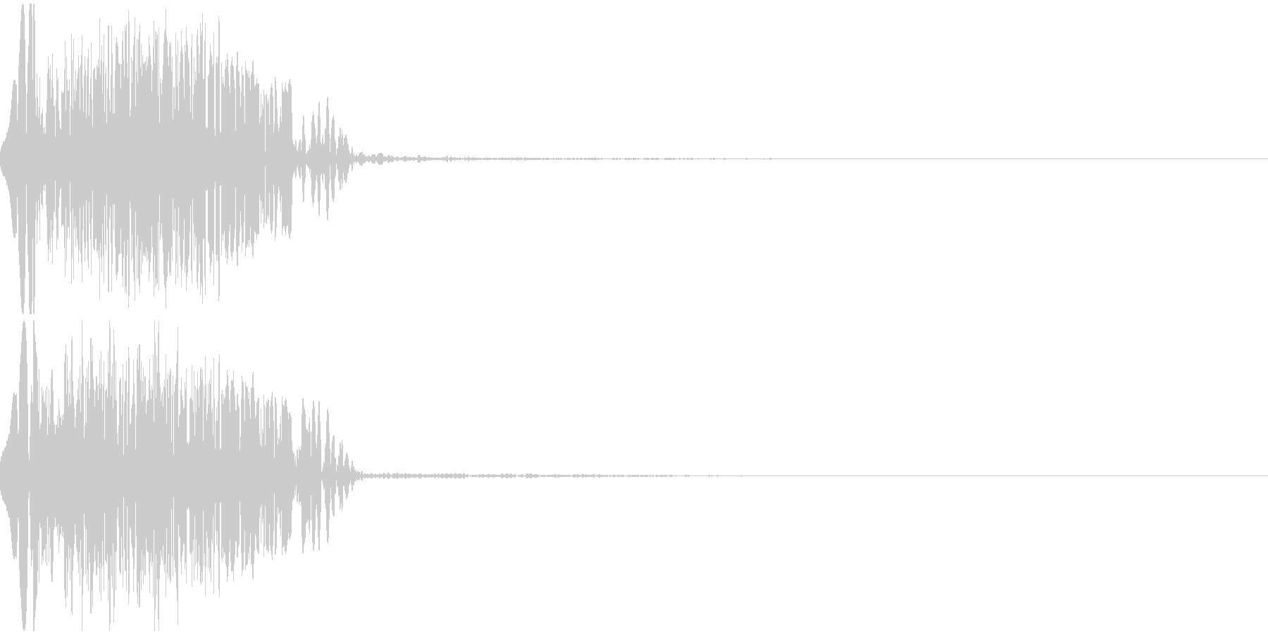 ドカーン(Hit_ダメージ)の未再生の波形
