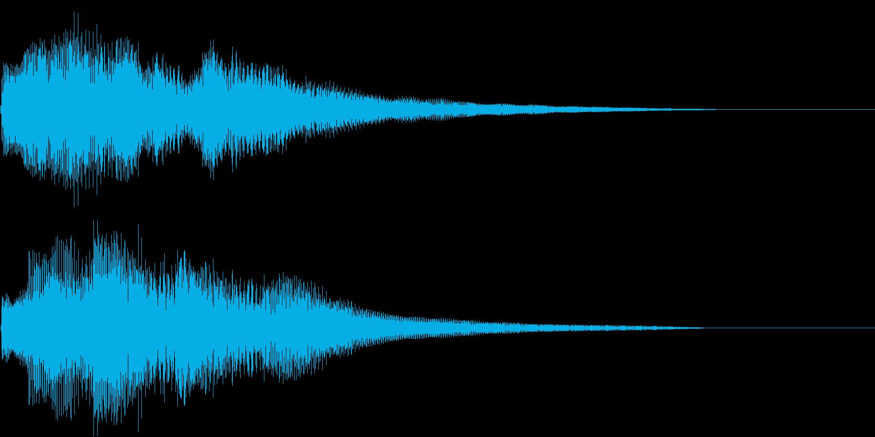 ウインドベルのようなピアノの調べの再生済みの波形
