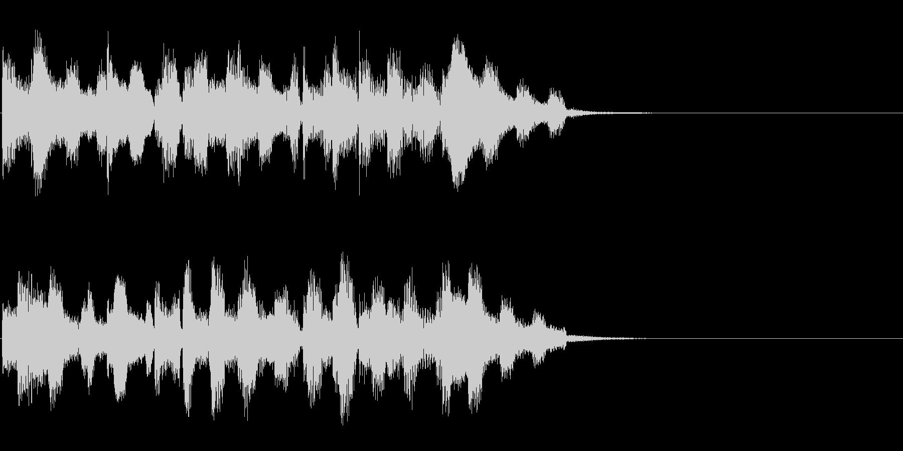 エレクトリックピアノでのジングルBGMの未再生の波形