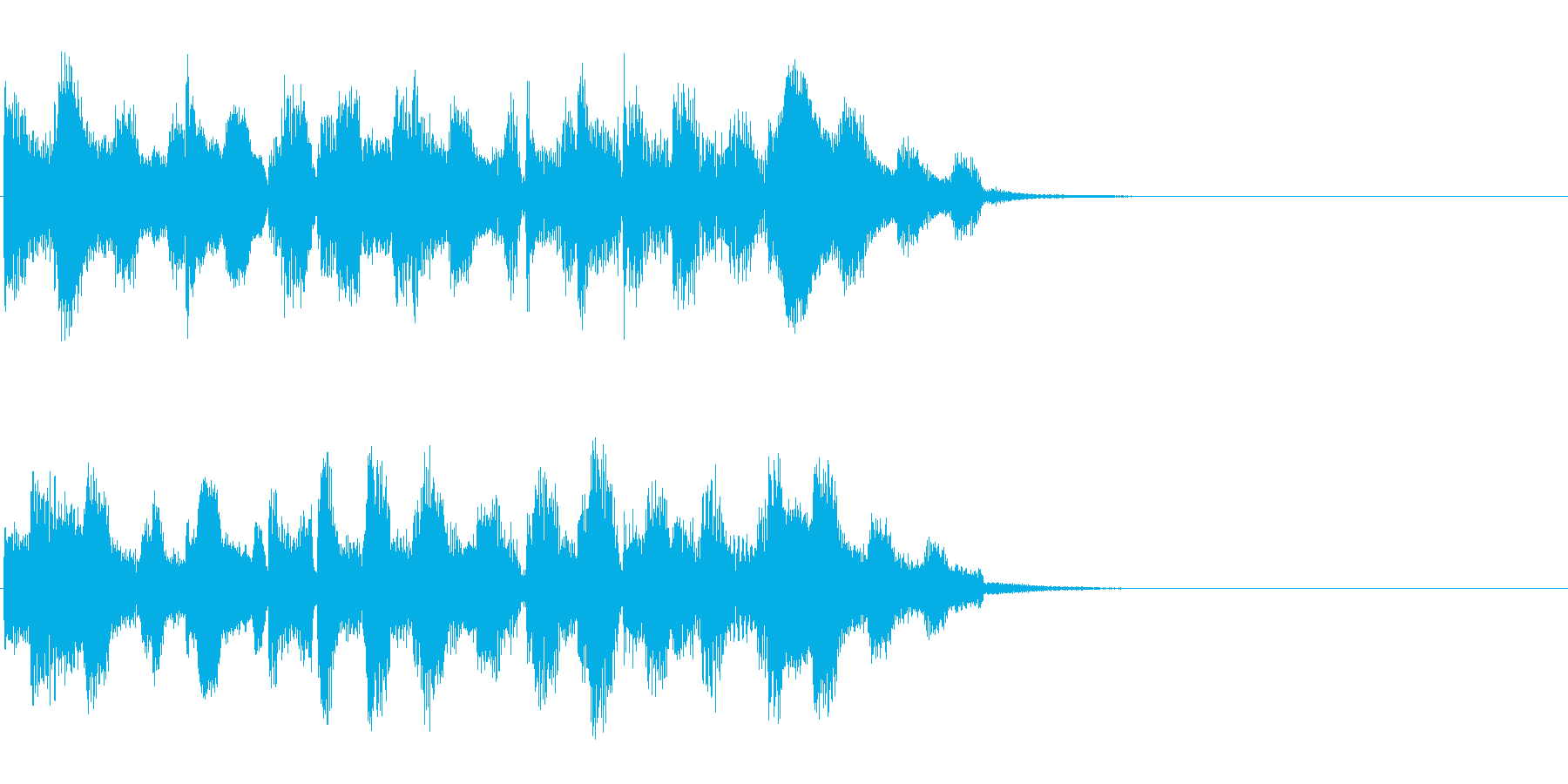 エレクトリックピアノでのジングルBGMの再生済みの波形