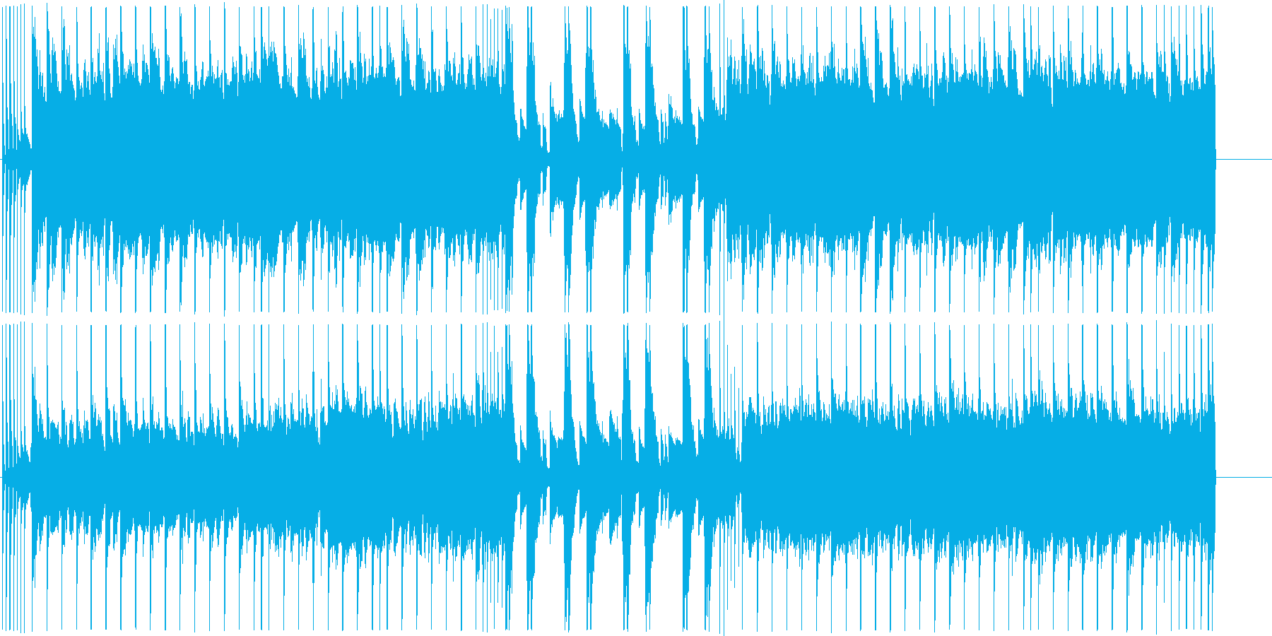 戦国ゲームに最適なハードロック ループ曲の再生済みの波形