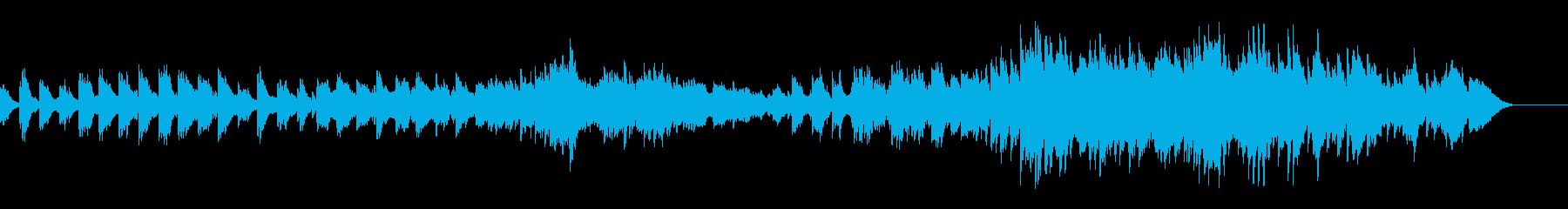 フルートとオーボエのバラードの再生済みの波形